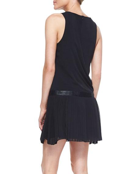 Vanessa Sleeveless Dress With Pleats