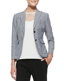 Rag & Bone Nancy Linen-Blend Blazer