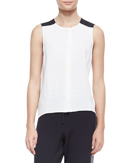 Rag & Bone Sleeveless High-Low Flowy Top