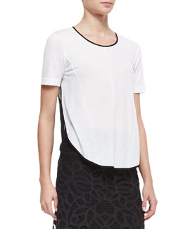 Rag & Bone Rose Scoop-Neck Tee