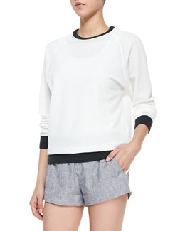 Rag & Bone Classic Perforated/Solid Race Sweatshirt