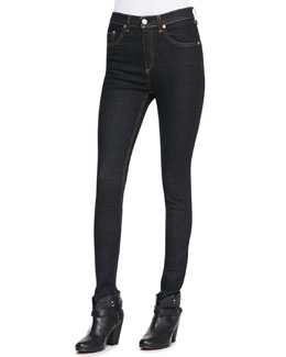 rag & bone/JEAN Justine High-Rise Skinny Jeans, Harrow