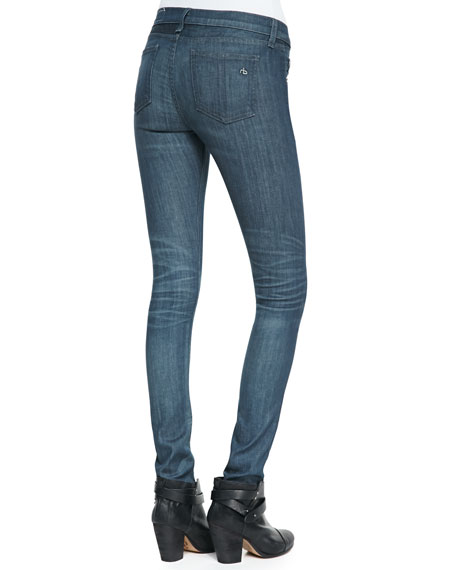The Skinny Pinner Faded-Knee Jeans