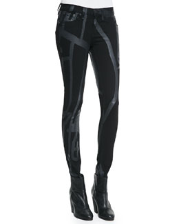 rag & bone/JEAN Black Robot The Legging Jeans