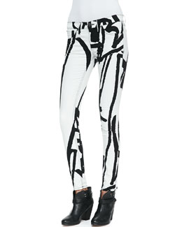 rag & bone/JEAN The Legging Jeans, White Robot