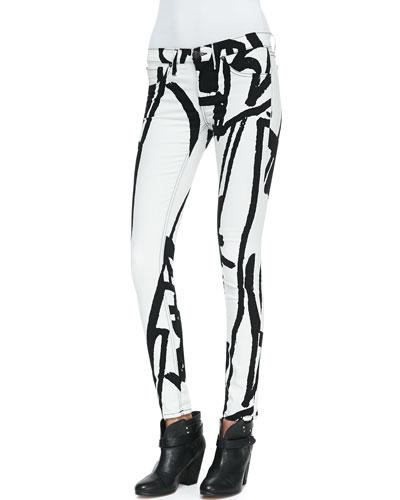 rag & bone/JEAN The Legging Jeans, White Robot