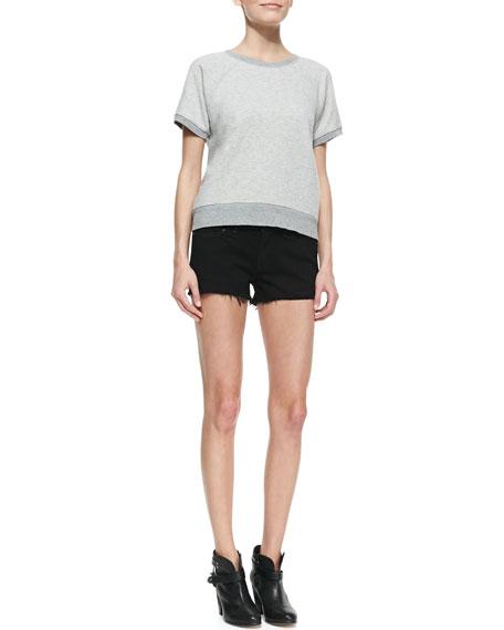 Denim Cutoff Shorts, Coal
