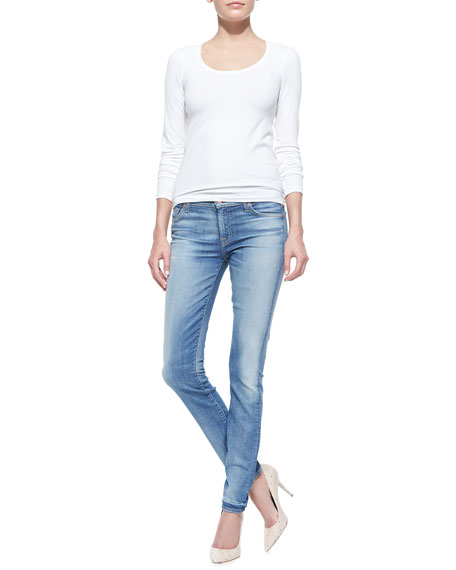 Distressed Skinny Jeans, Authentic Pacific Cove