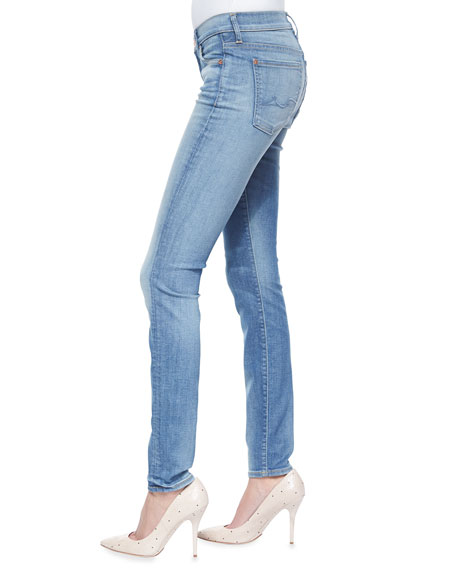 7 For All Mankind Distressed Skinny Jeans, Authentic Pacific Cove
