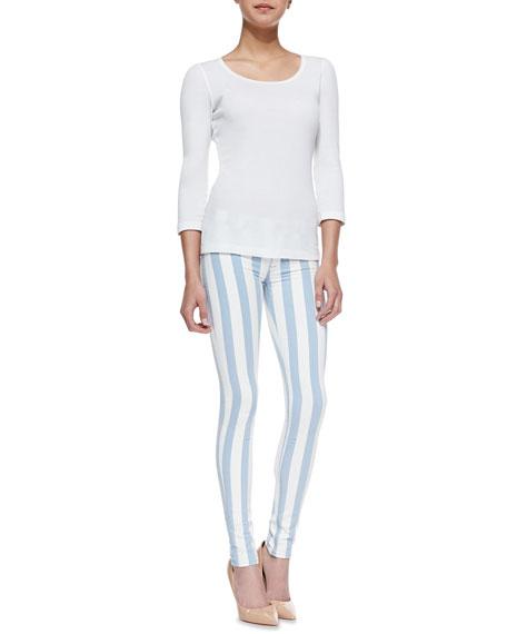 Krista Super Skinny Liberated Striped Jeans