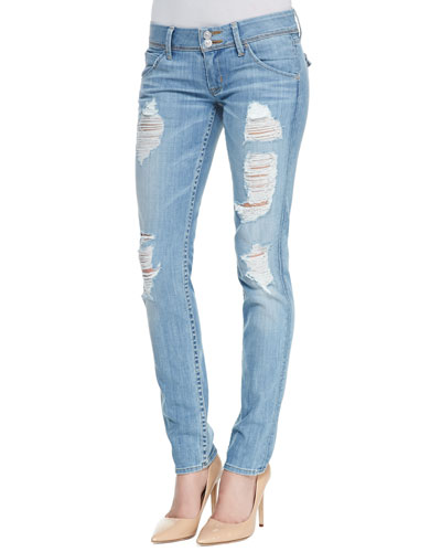 Hudson Collin Distressed Skinny Jeans, Soul Search