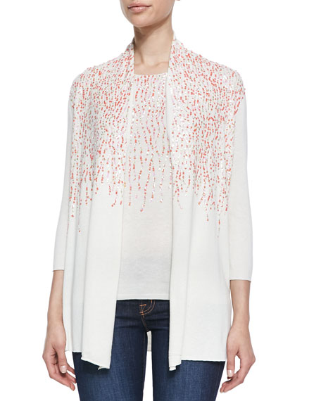 Silk/Cashmere Multi-Sequined Cardigan