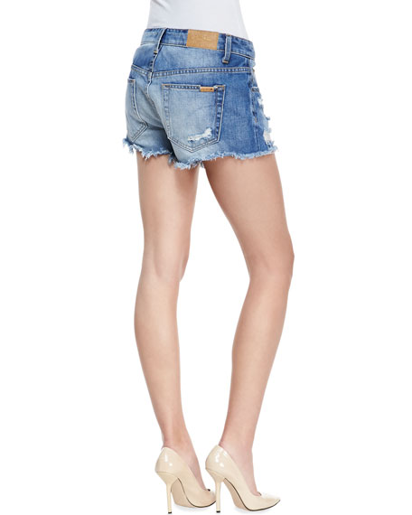 Denim High-Rise Cutoff Shorts