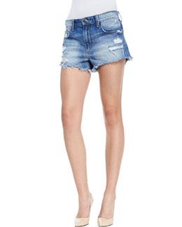 Joe's Jeans Denim High-Rise Cutoff Shorts