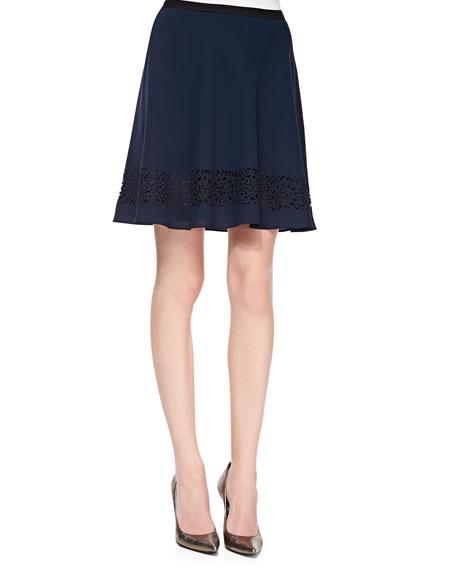 Allen Cutout Skirt, Navy/Titanium