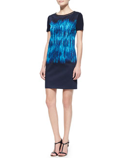 T Tahari Kae Ferrat Short-Sleeve Dress