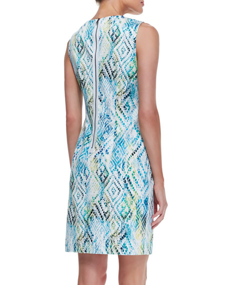Kimber Printed Sheath Dress