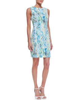 T Tahari Kimber Printed Sheath Dress