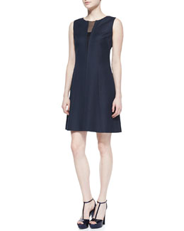 T Tahari Micah Sleeveless Full Skirt Dress