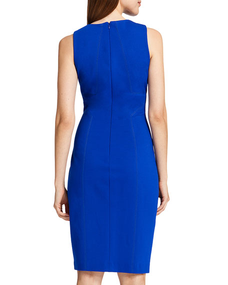 Kali Sleeveless Dress with Grated Neckline