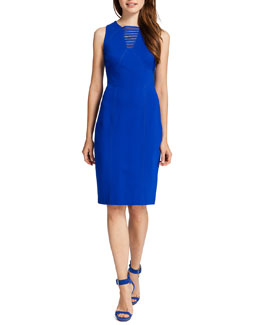 Cynthia Steffe Kali Sleeveless Dress with Grated Neckline