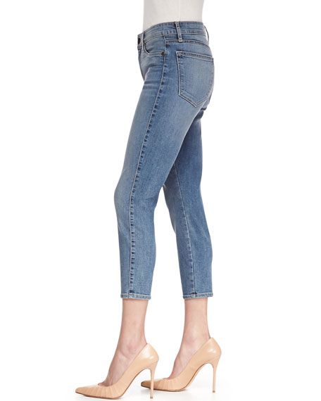Believe Cropped Skinny Jeans, Mary Blue