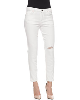 CJ by Cookie Johnson Wisdom Distressed Skinny Ankle Jeans, Optic White