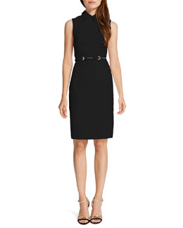 Cynthia Steffe Chrissy Sleeveless Belted Shirtdress, Rich Black