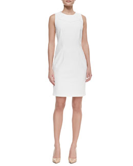 Carmen by Carmen Marc Valvo Sleeveless Geometric-Top Sheath Dress