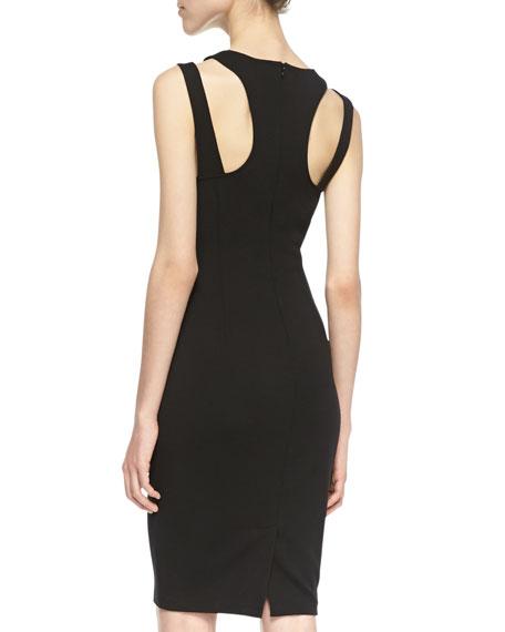 Elva Cutout Sheath Dress, Black