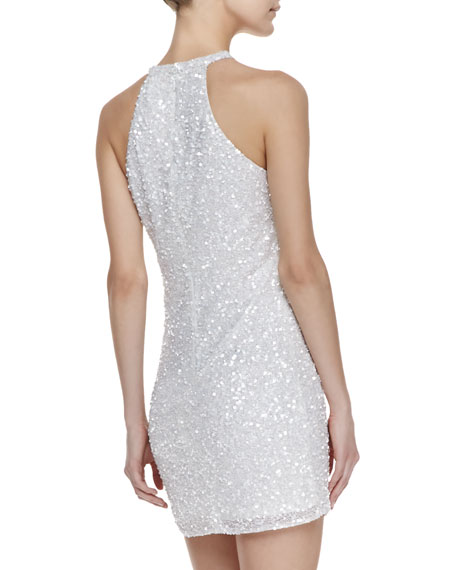 Audrey Beaded Sheath Dress, White