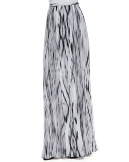 Parker Topanga Streak Print Maxi Skirt, Black/White