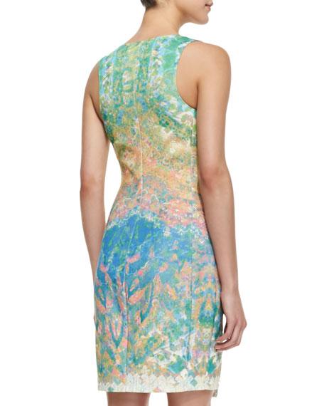 Mixed Medallion Print Side Zip Dress