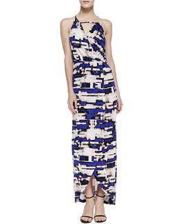 Parker Hillington Printed Halter Maxi Dress, Purple