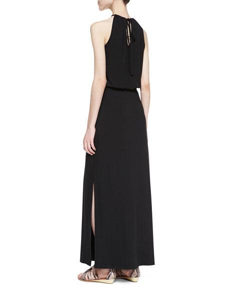 Blouson Halter Maxi Dress
