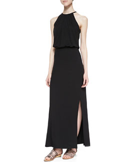 Splendid Blouson Halter Maxi Dress