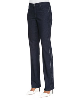 CJ by Cookie Johnson Faith Studded  Straight-Leg Jeans