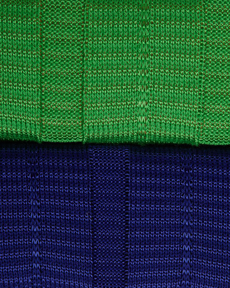 Cap-Sleeve V-Neck Knit Dress