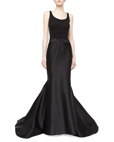 Long Duchess Mermaid Skirt, Black