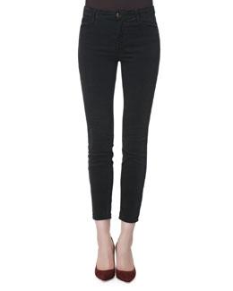 J Brand Jeans Alana Darkest Gray High-Rise Cropped Jeans