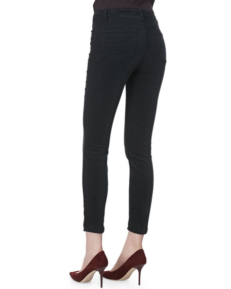Alana Darkest Gray High-Rise Cropped Jeans