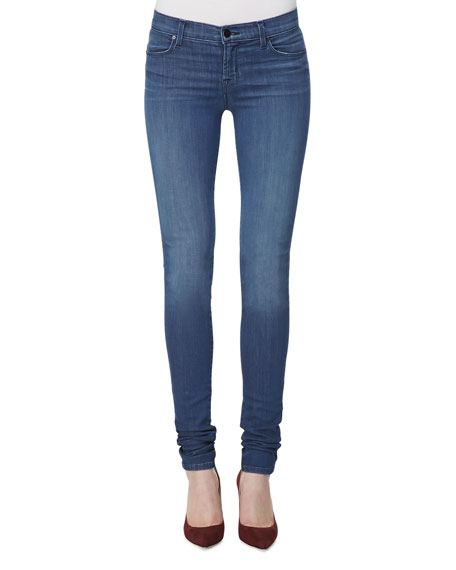 624 Mid-Rise Stacked Super Skinny Jeans, Low