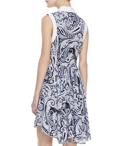 Allyson Paisley-Print High-Low Shirtdress
