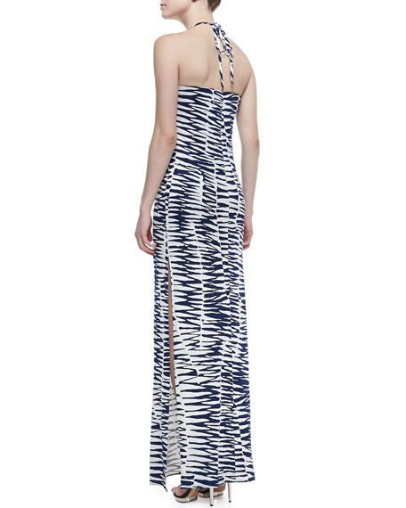 Lane Zebra-Print Jersey Maxi Dress