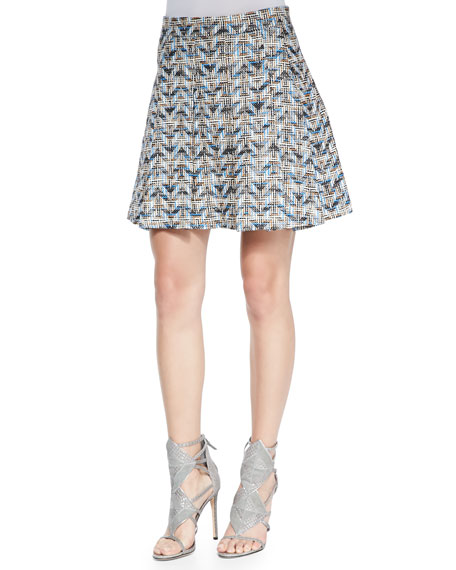derek lam 10 crosby chevron pleated a line skirt