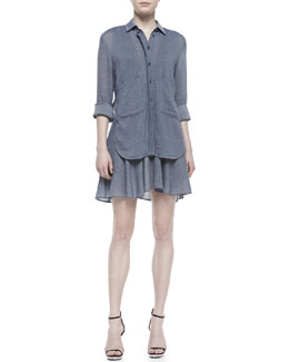 10 Crosby Derek Lam Tiered Two-Pocket Shirtdress