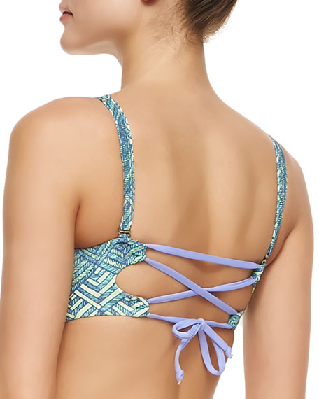 Whimsy Dungeons Bustier Swim Top