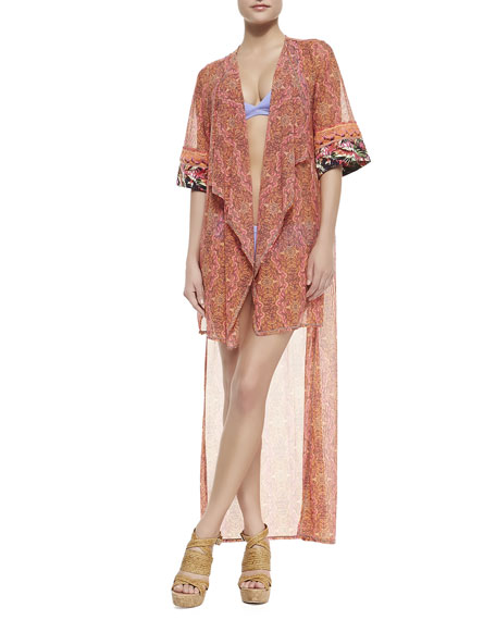 Mary Mack Georgette Kimono Coverup
