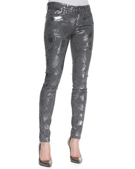 Verdugo Metallic Stretch Skinny Jeans, Surrealism