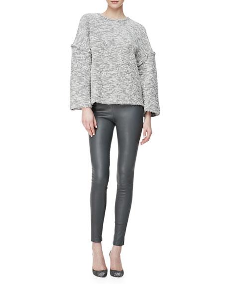 Lambskin Leggings, Gray